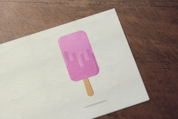 Download Free Melted Strawberry Flavored Ice Cream Graphic By Sabavector for Cricut Explore, Silhouette and other cutting machines.