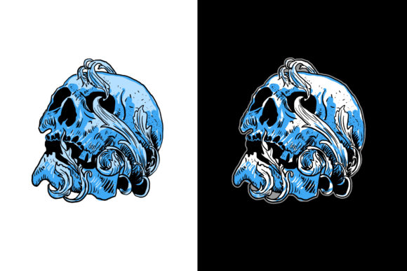 Download Free Skull Graphic By Vtks Design Creative Fabrica for Cricut Explore, Silhouette and other cutting machines.