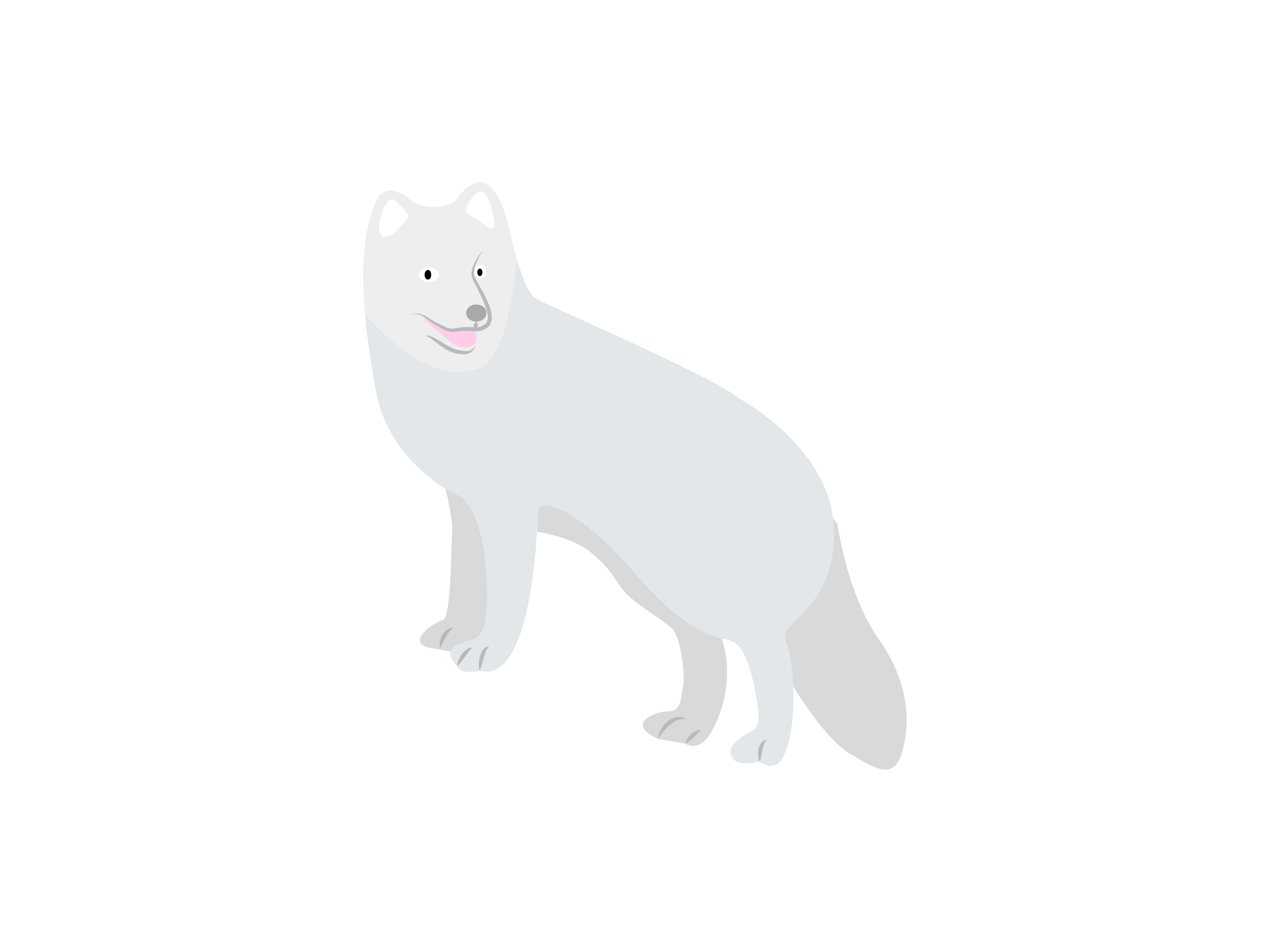 Download Free The Snow Wolf Is Standing Graphic By Archshape Creative Fabrica for Cricut Explore, Silhouette and other cutting machines.