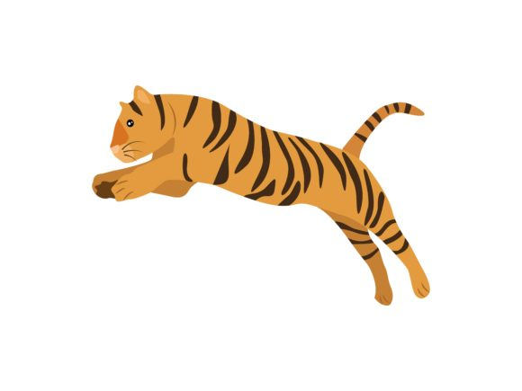 Download Free Tigers Animal Graphic By Archshape Creative Fabrica for Cricut Explore, Silhouette and other cutting machines.