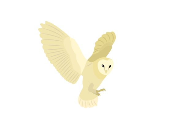 Download Free White Owl Bird Animal Graphic By Archshape Creative Fabrica for Cricut Explore, Silhouette and other cutting machines.