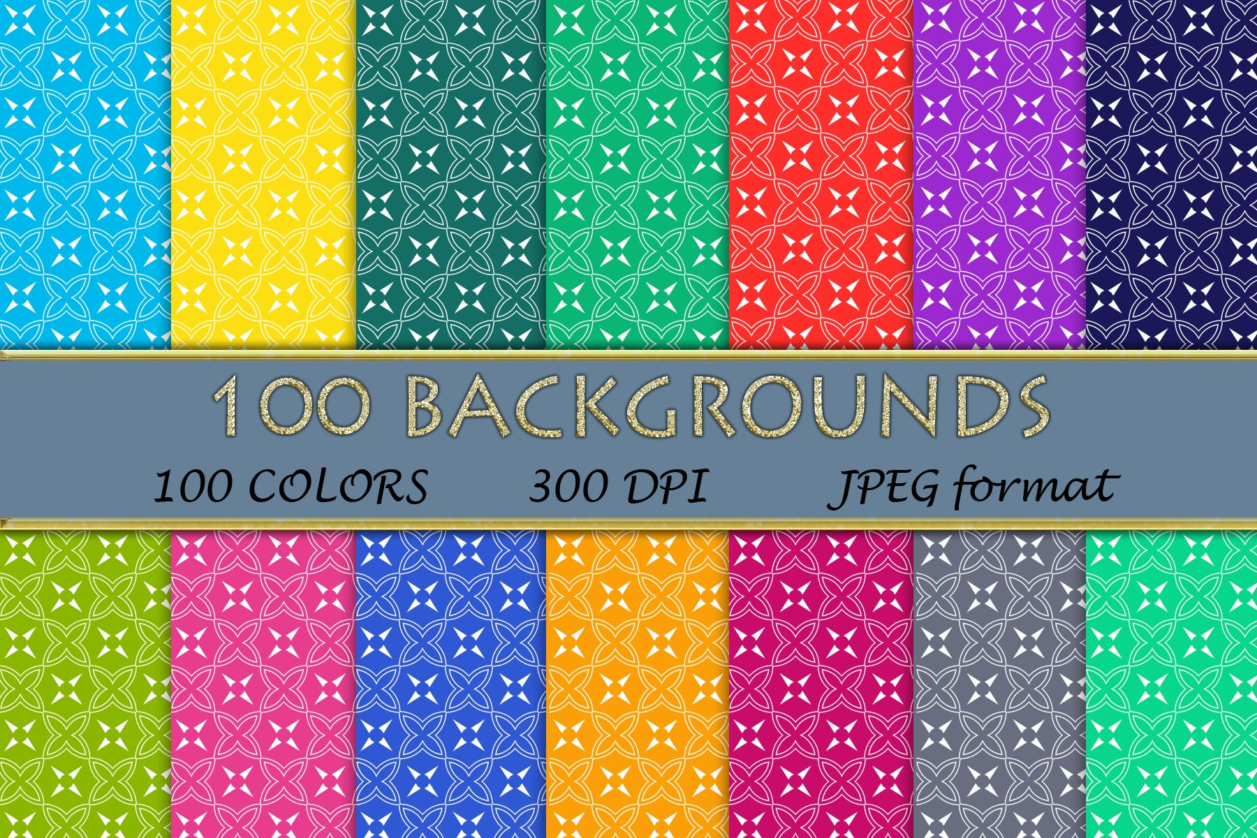 Download Free 100 Geometric Patterns 036 Graphic By Sweetdesign Creative Fabrica for Cricut Explore, Silhouette and other cutting machines.