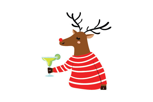 Reindeer with Margarita Christmas Craft Cut File By Creative Fabrica Crafts
