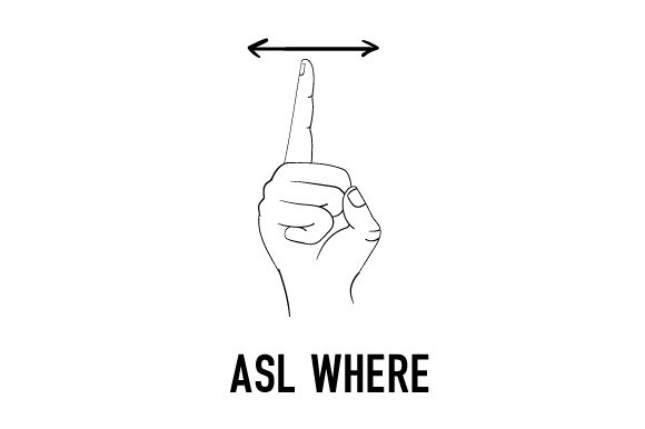 Download Free Asl Where Svg Cut File By Creative Fabrica Crafts Creative Fabrica for Cricut Explore, Silhouette and other cutting machines.