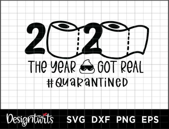 Download Free 2020 Quarantined Graphic By Spoonyprint Creative Fabrica for Cricut Explore, Silhouette and other cutting machines.