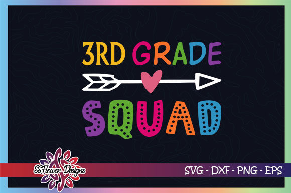 Download Free 3rd Grade Squad Back To School Graphic Graphic By Ssflower for Cricut Explore, Silhouette and other cutting machines.
