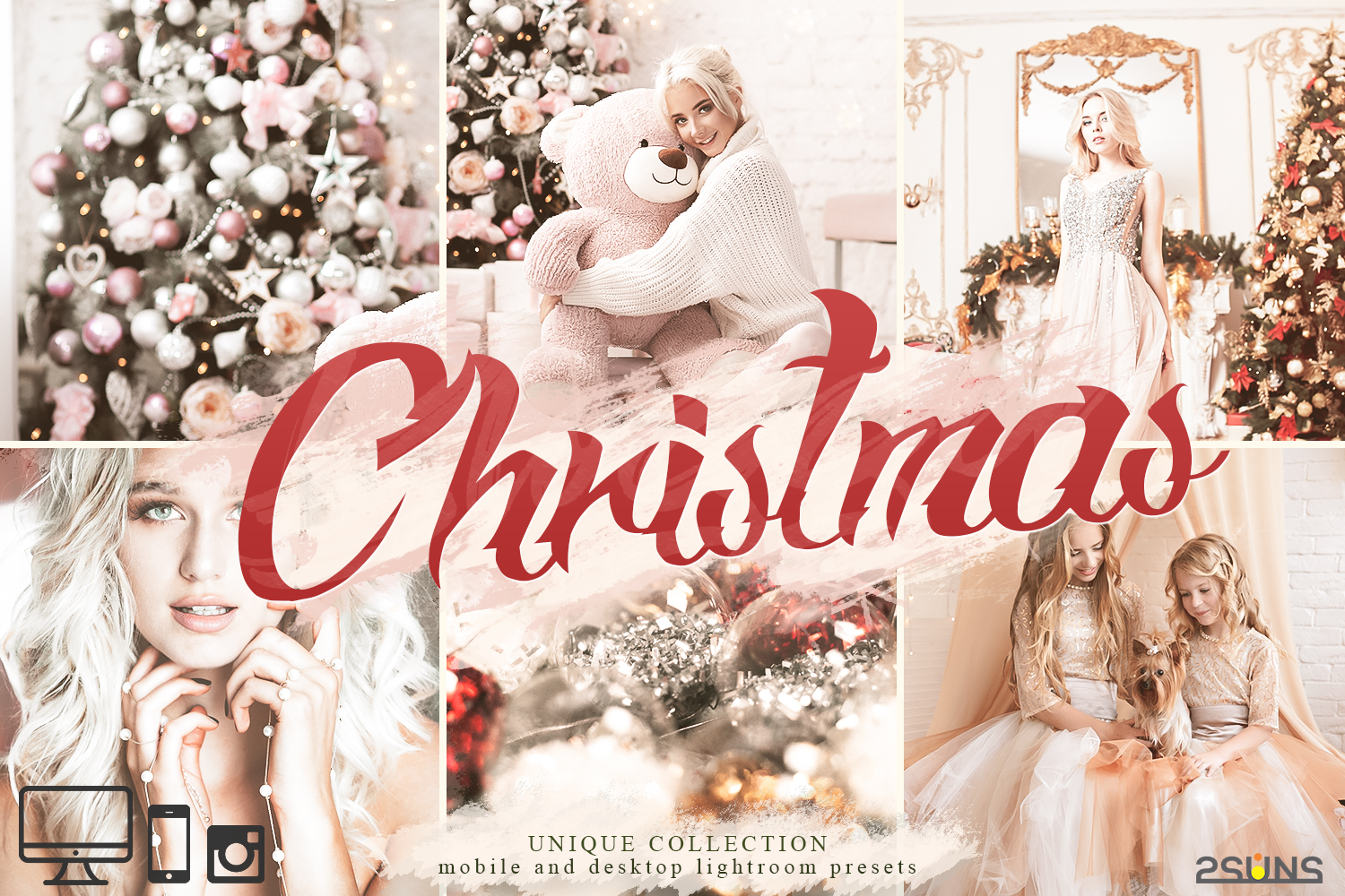5 Christmas Lightroom Presets Graphic By 2suns Creative Fabrica