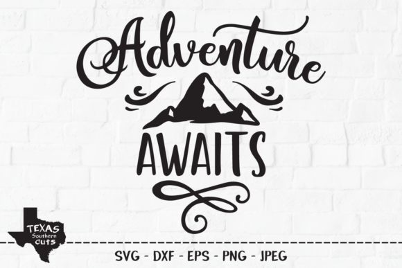 Download Free Adventure Awaits Outdoor Shirt Design Graphic By for Cricut Explore, Silhouette and other cutting machines.