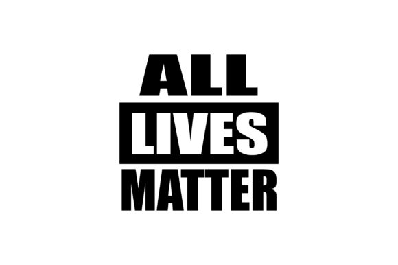 Download Free All Lives Matter Quote Graphic By Fauzidea Creative Fabrica for Cricut Explore, Silhouette and other cutting machines.