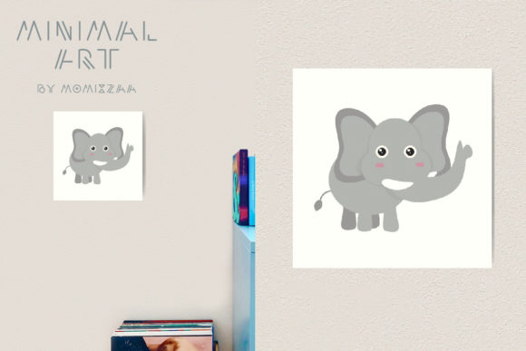 Download Free Animal Alphabet E For Elephant Cartoon Graphic By Momixzaa for Cricut Explore, Silhouette and other cutting machines.