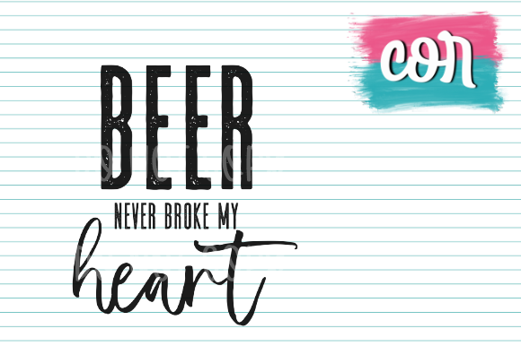 Print on Demand: Beer Never Broke My Heart Graphic Crafts By designscor