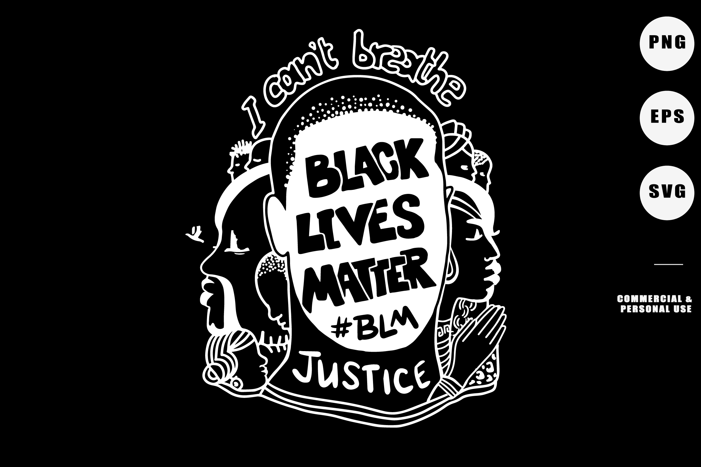 Download Free Black Lives Matter Blm Graphic By Adlydigital Creative Fabrica for Cricut Explore, Silhouette and other cutting machines.