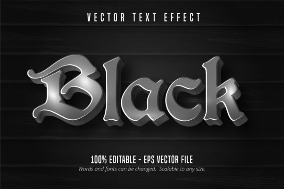 Print on Demand: Black Text, Editable Text Effect Graphic Graphic Templates By Mustafa Bekşen