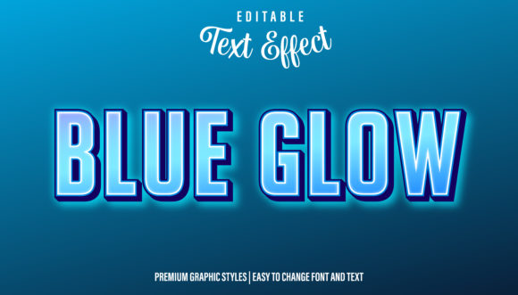 Download Free Blue Glow Neon Graphic Style Text Effect Graphic By Eddyinside for Cricut Explore, Silhouette and other cutting machines.