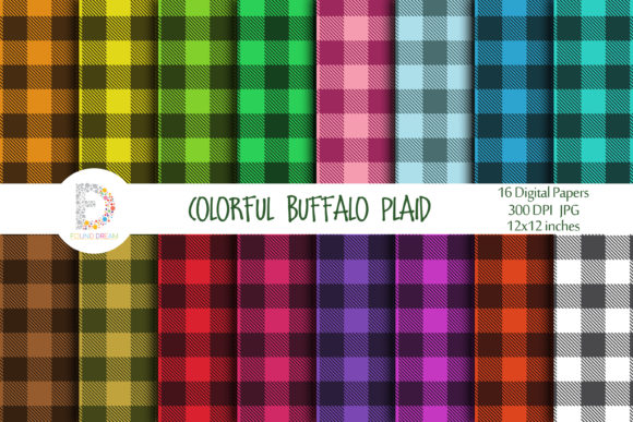 Print on Demand: Buffalo Plaid Patterns Gráfico Fondos Por FounDream