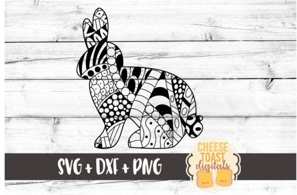 Download Free Bunny Zentangle Graphic By Cheesetoastdigitals Creative Fabrica SVG Cut Files