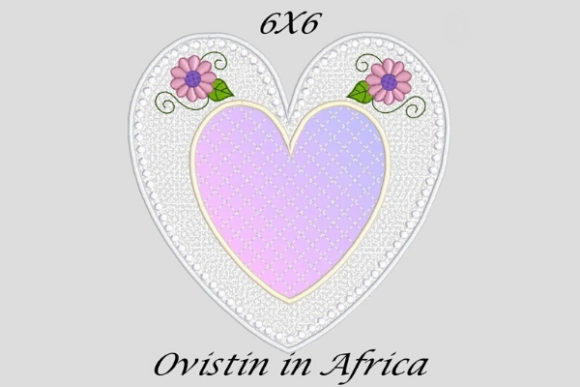Charming Applique Heart Coaster Sewing & Crafts Embroidery Design By Ovistin in Africa