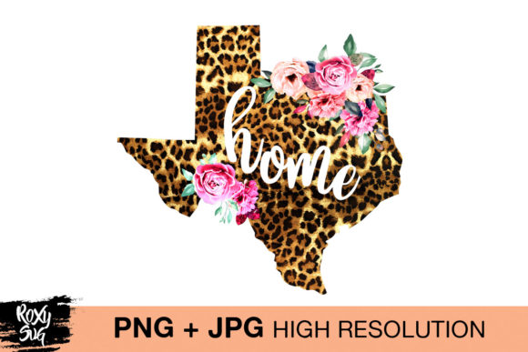 Download Free Cheetah And Floral Texas Clipart Graphic By Roxysvg26 Creative for Cricut Explore, Silhouette and other cutting machines.