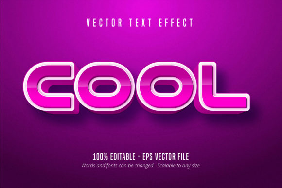 Download Free Cool Text Editable Text Effect Graphic By Mustafa Beksen for Cricut Explore, Silhouette and other cutting machines.