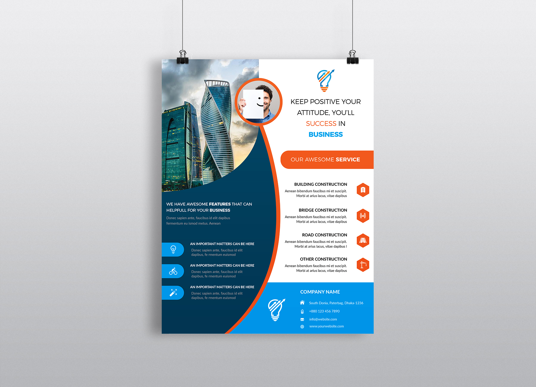 Download Free Corporate Business Flyer Template Vol 16 Graphic By Imagine for Cricut Explore, Silhouette and other cutting machines.