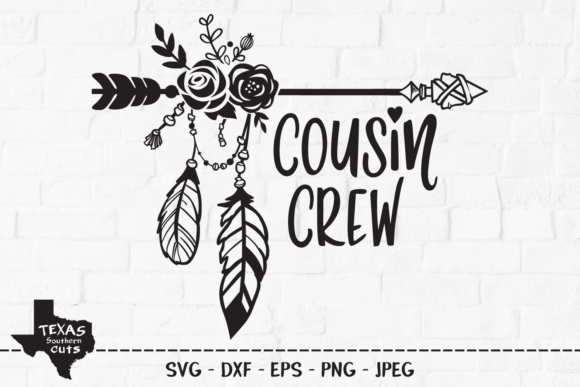 Download Free Cousin Crew Outdoor Shirt Design Graphic By Texassoutherncuts Creative Fabrica for Cricut Explore, Silhouette and other cutting machines.