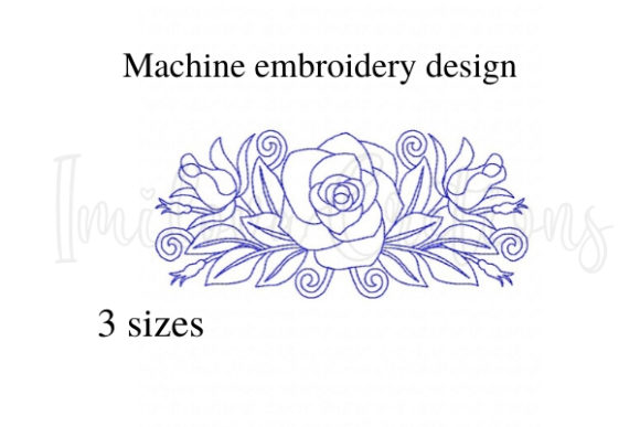 Cute Rose Single Flowers & Plants Embroidery Design By ImilovaCreations