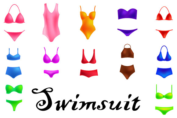 Download Free Cute Of One Piece Swimsuit Girl Models Graphic By Iop Micro for Cricut Explore, Silhouette and other cutting machines.