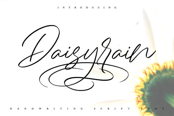 Print on Demand: Daisy Rain Script & Handwritten Font By Vunira