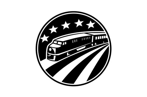 Download Free Diesel Locomotive Train Graphic By Patrimonio Creative Fabrica for Cricut Explore, Silhouette and other cutting machines.