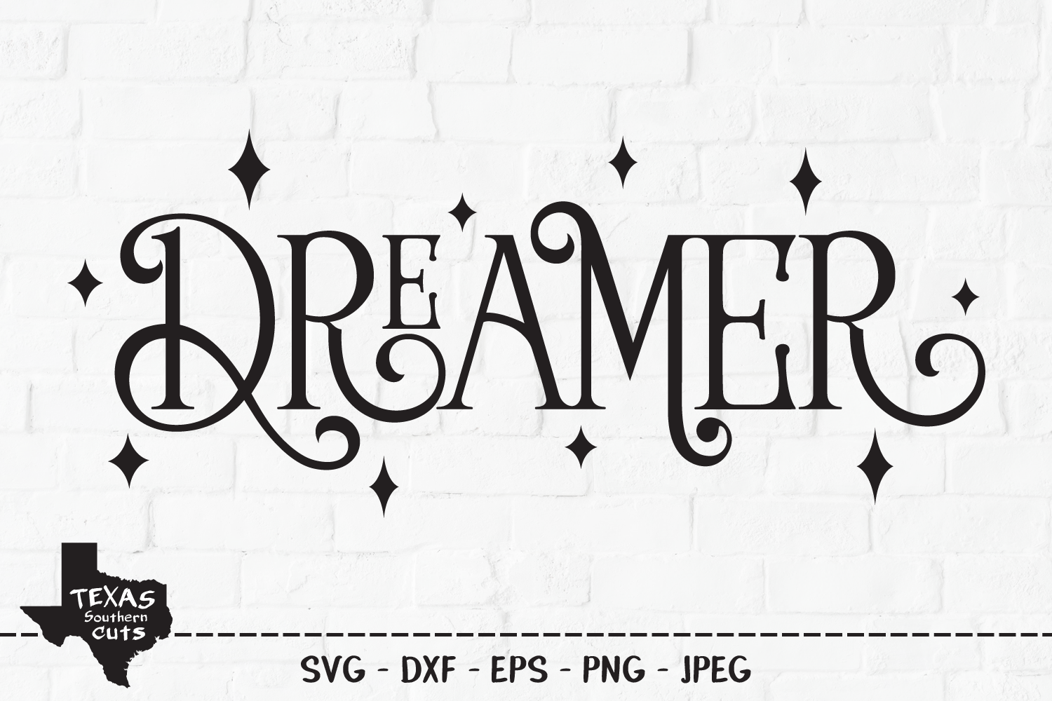 Download Free Dreamer Shirt Design Graphic By Texassoutherncuts Creative for Cricut Explore, Silhouette and other cutting machines.