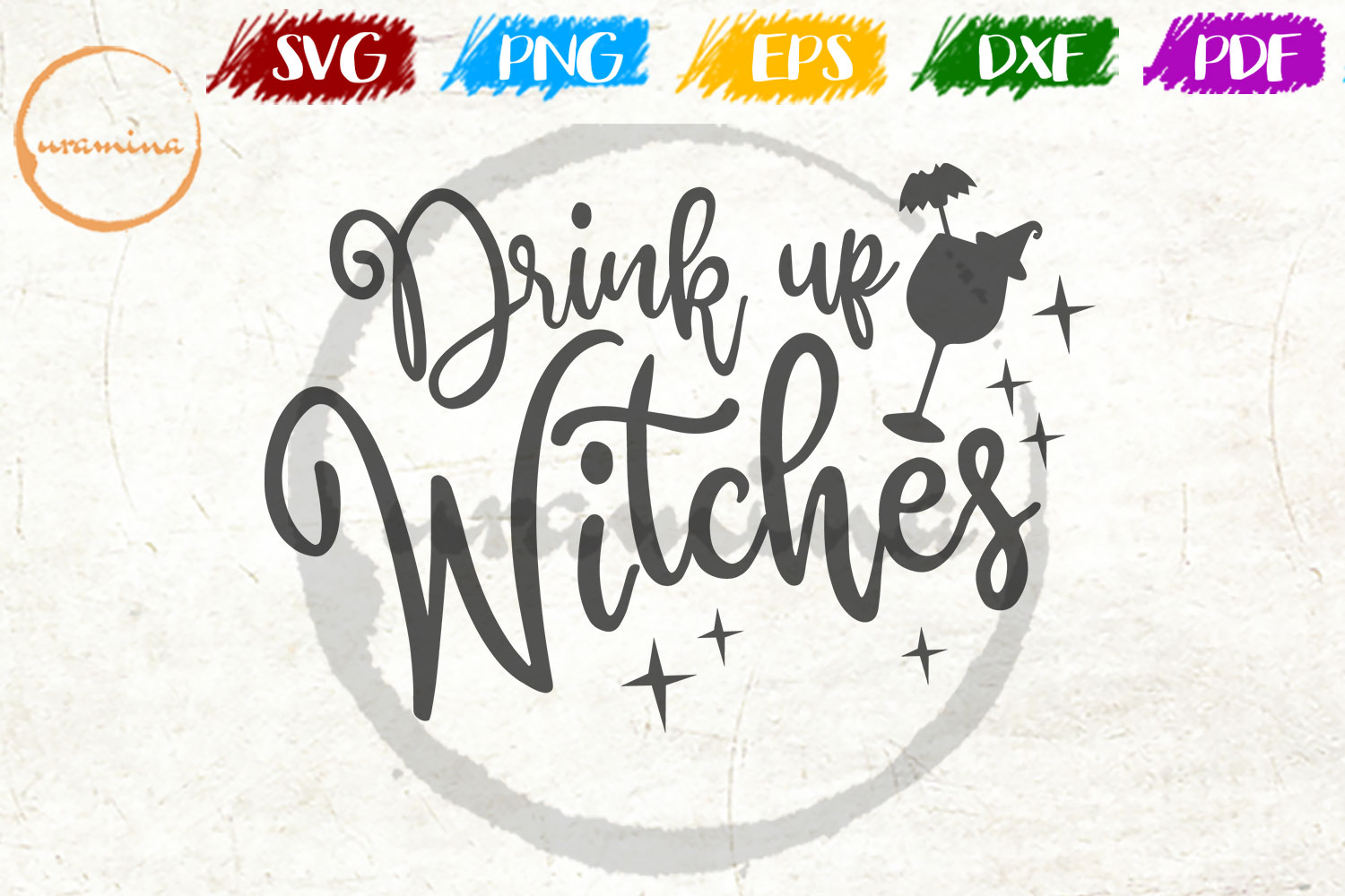 Download Free Drink Up Witches Graphic By Uramina Creative Fabrica for Cricut Explore, Silhouette and other cutting machines.