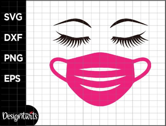 Download Free Eyelash Mask Graphic By Spoonyprint Creative Fabrica for Cricut Explore, Silhouette and other cutting machines.