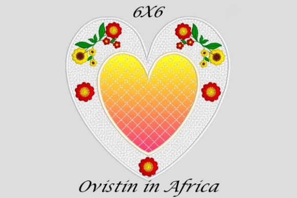 Elegant Applique Heart Coaster Sewing & Crafts Embroidery Design By Ovistin in Africa