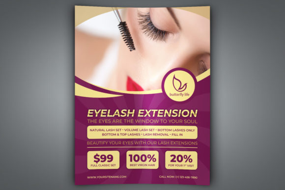 Eyelash Extension Flyer Template Graphic By Owpictures