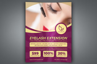 Print on Demand: Eyelash Extension Flyer Template Graphic Print Templates By OWPictures