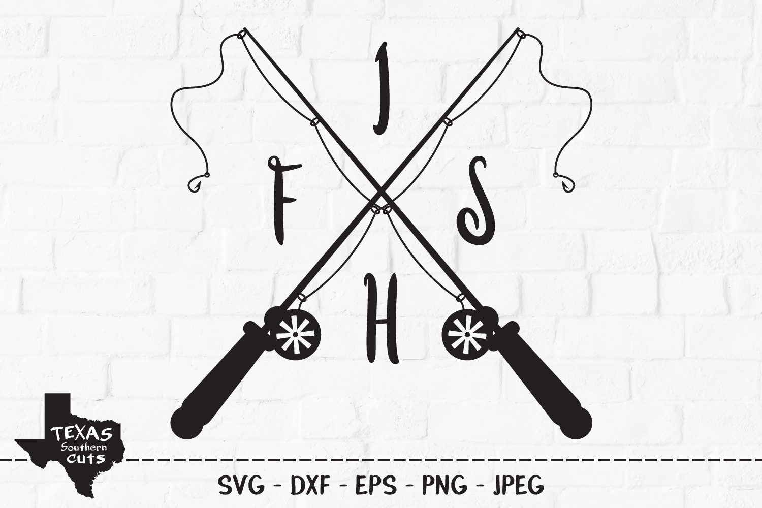 Download Free Fish Fishing Shirt Design Graphic By Texassoutherncuts for Cricut Explore, Silhouette and other cutting machines.