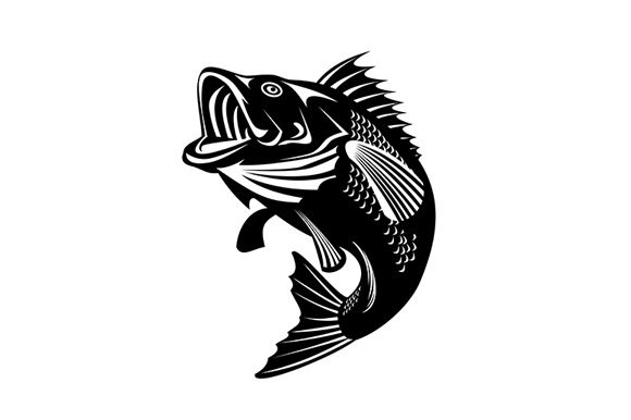 Download Free Florida Largemouth Bass Swimming Graphic By Patrimonio for Cricut Explore, Silhouette and other cutting machines.
