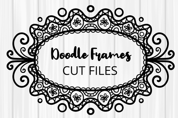 Download Free Folk Art Doodle Border Frames Cut Files Graphic By Prawny for Cricut Explore, Silhouette and other cutting machines.