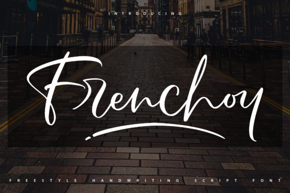 Print on Demand: Frenchoy Script & Handwritten Font By Vunira