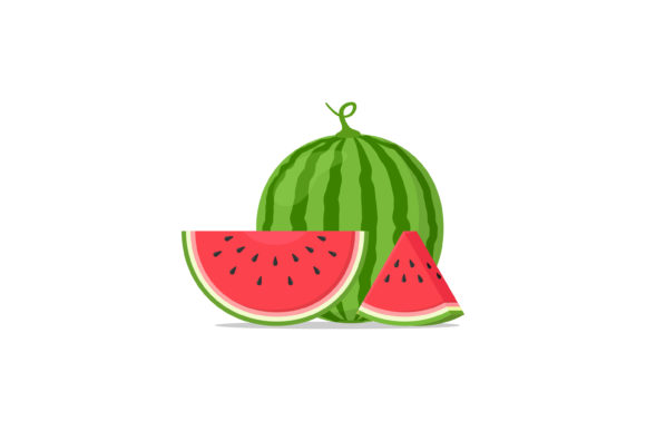 Print on Demand: Fresh Watermelon Fruit Vector Design Graphic Illustrations By sabavector