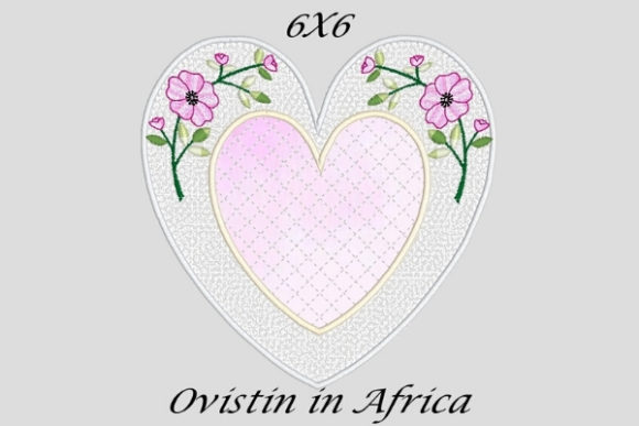 Glamorous Applique Heart Coaster Sewing & Crafts Embroidery Design By Ovistin in Africa