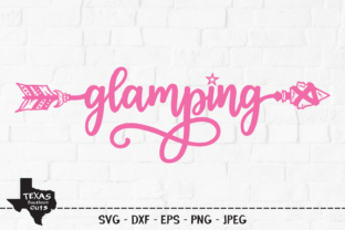 Print on Demand: Glamping - Camping Shirt Design Graphic Crafts By texassoutherncuts