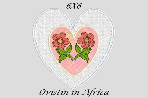 Gorgeous Applique Heart Coaster Sewing & Crafts Embroidery Design By Ovistin in Africa