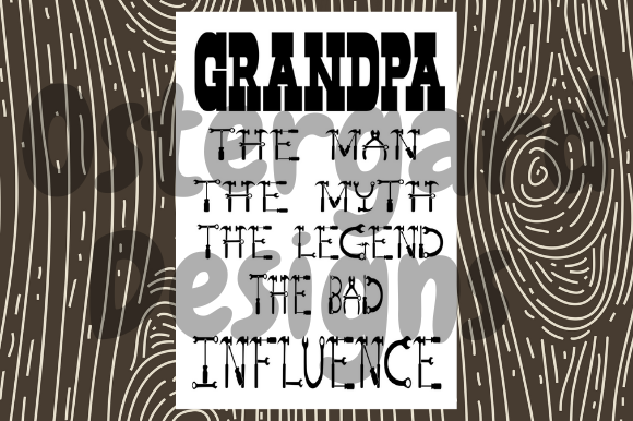 Download Free Grandpa The Bad Influence Graphic By Ostergarddesigns Creative SVG Cut Files
