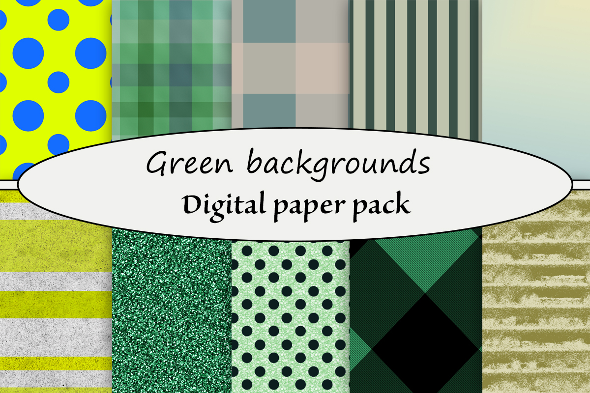 Download Free Green Backgrounds Digital Paper Pack Graphic By A Design In Time for Cricut Explore, Silhouette and other cutting machines.