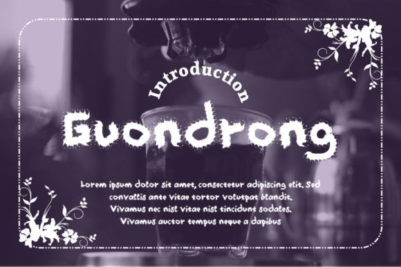 Print on Demand: Guondrong Display Font By Gblack Id