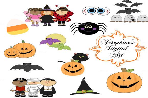 Halloween Clipart Cute Designs Graphic By Josephine S Digital