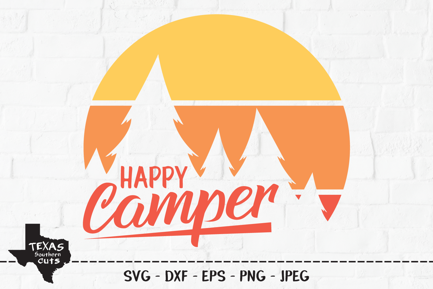 Download Free Happy Camper Camping Shirt Design Graphic By Texassoutherncuts for Cricut Explore, Silhouette and other cutting machines.