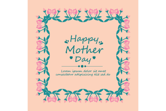 Download Free Happy Mother Day Poster Wallpaper Design Graphic By Stockfloral for Cricut Explore, Silhouette and other cutting machines.