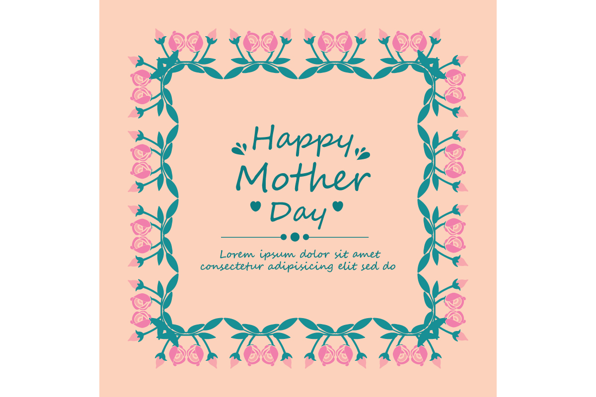 Happy Mother Day Poster Wallpaper Design Graphic By Stockfloral
